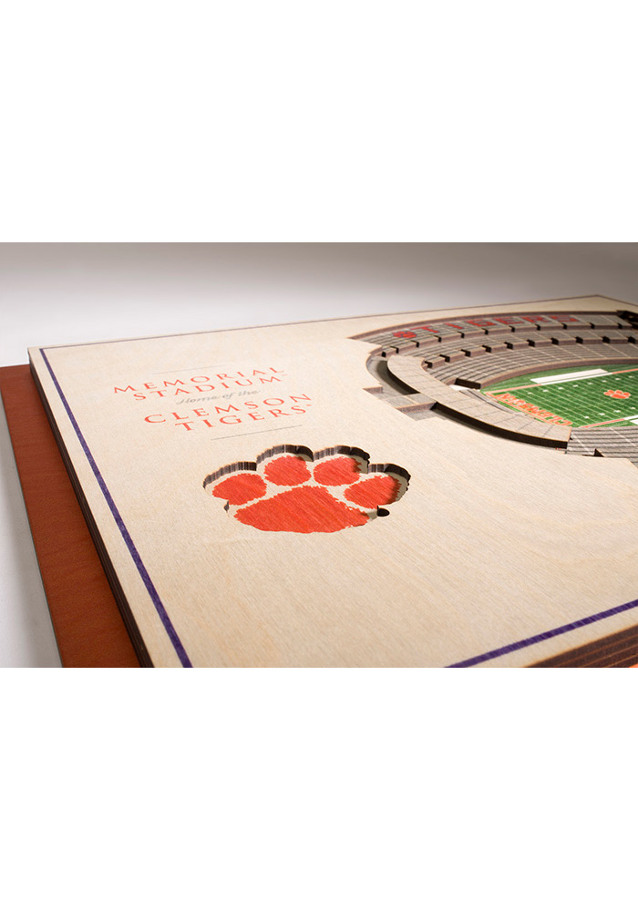 Clemson Tigers 5-Layer 3D Stadium View Wall Art - Image 3