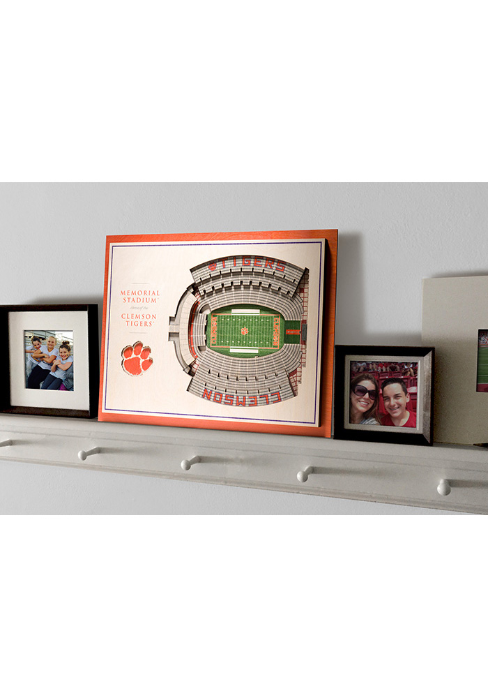 Clemson Tigers 5-Layer 3D Stadium View Wall Art - Image 4