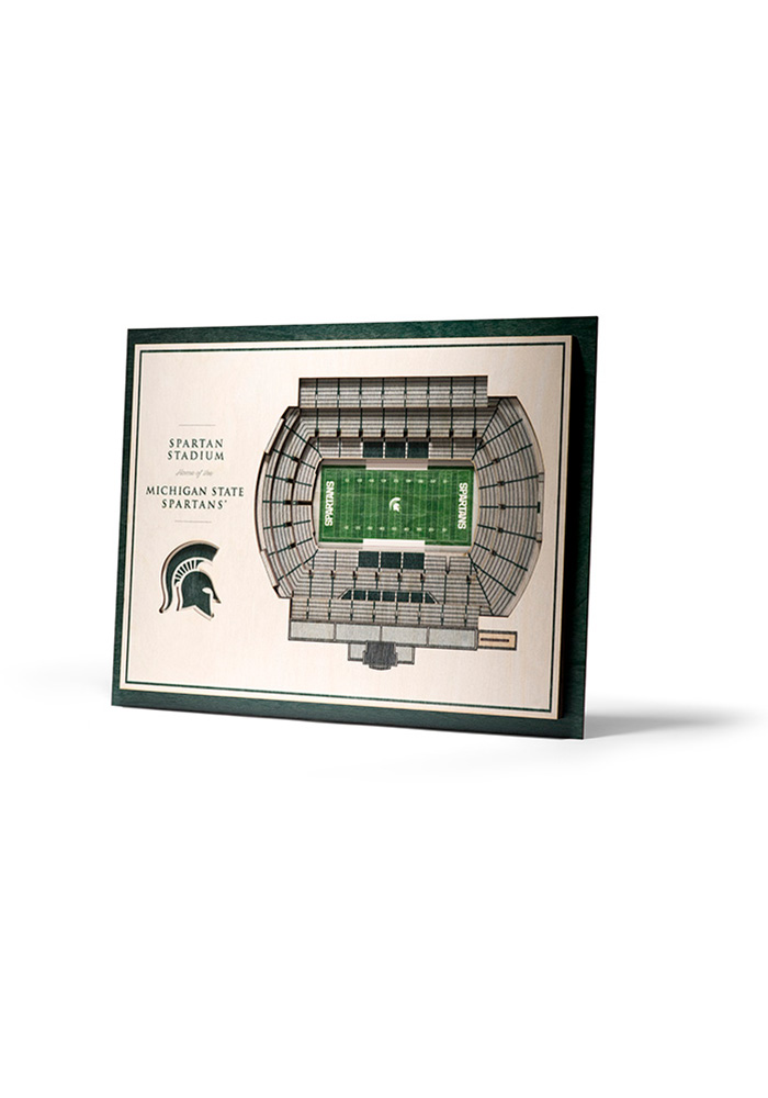 Michigan State Spartans 5-Layer 3D Stadium View Wall Art