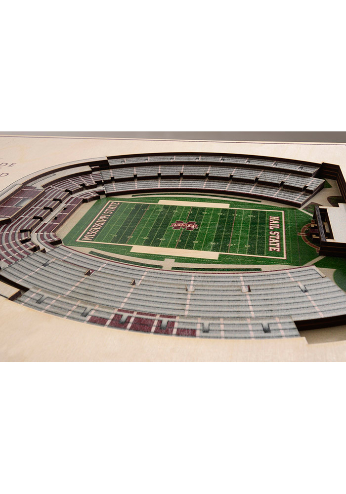 Mississippi State Bulldogs 5-Layer 3D Stadium View Wall Art - Image 2