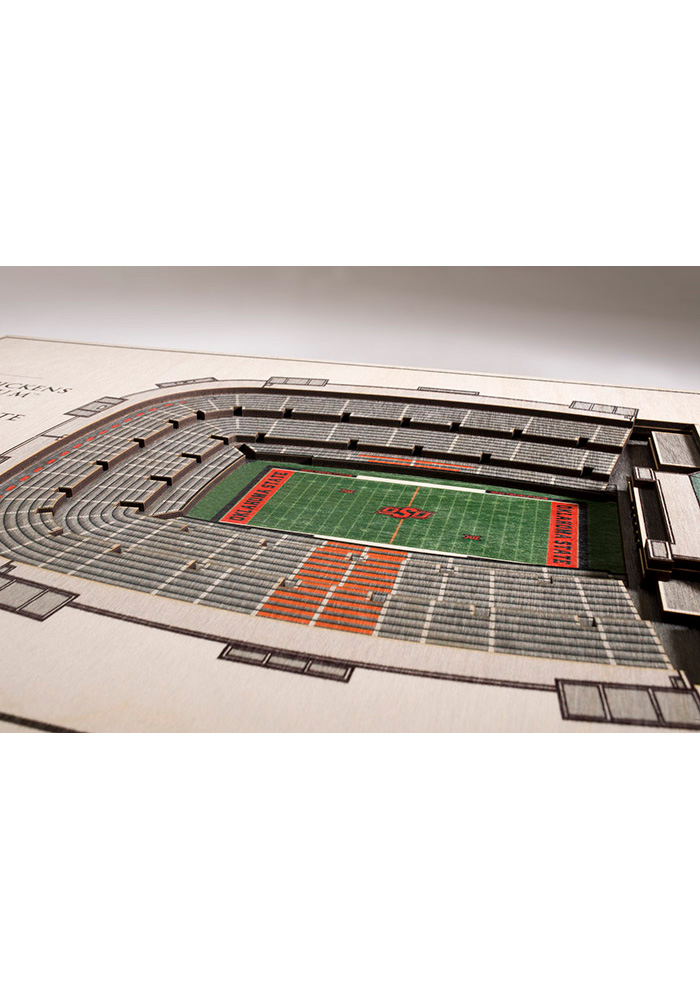 Oklahoma State Cowboys 5-Layer 3D Stadium View Wall Art - Image 2