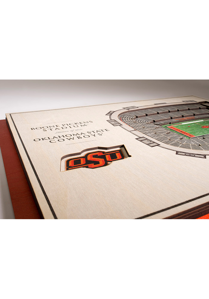 Oklahoma State Cowboys 5-Layer 3D Stadium View Wall Art - Image 3