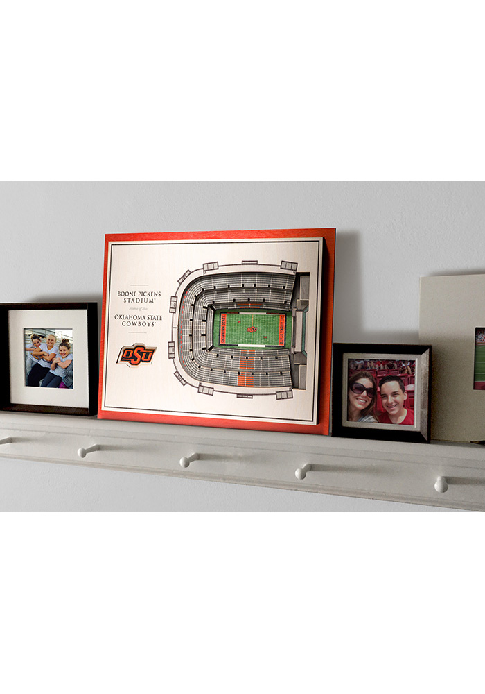 Oklahoma State Cowboys 5-Layer 3D Stadium View Wall Art - Image 4