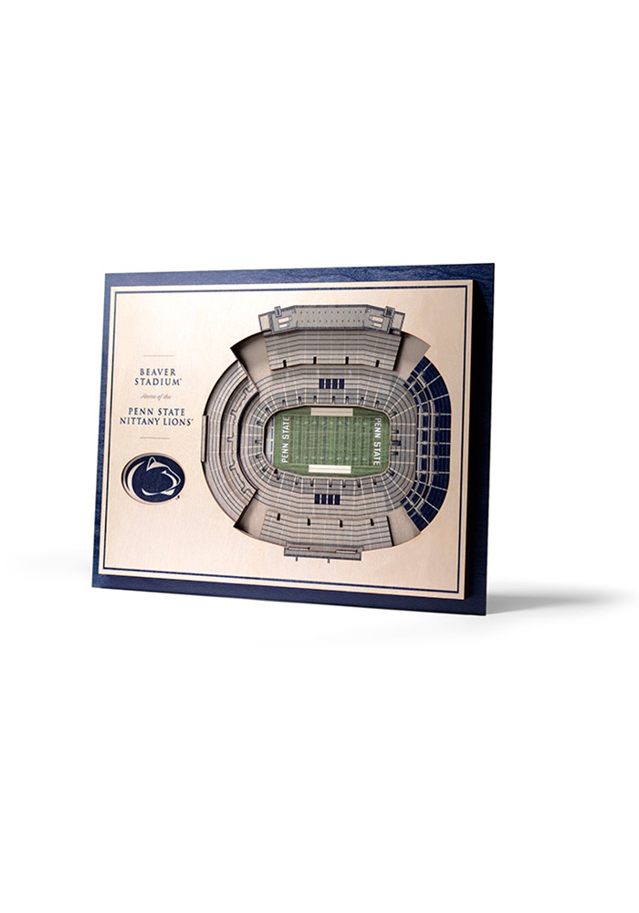 Penn State Nittany Lions 5-Layer 3D Stadium View Wall Art - Image 1