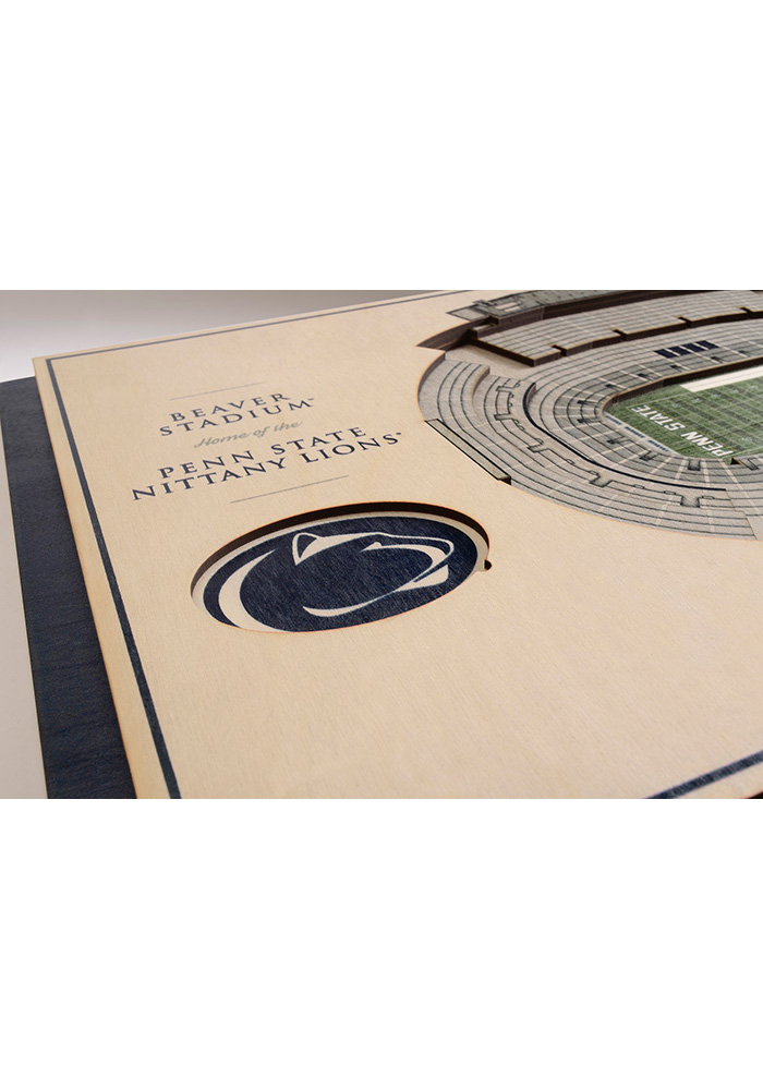 Penn State Nittany Lions 5-Layer 3D Stadium View Wall Art - Image 3