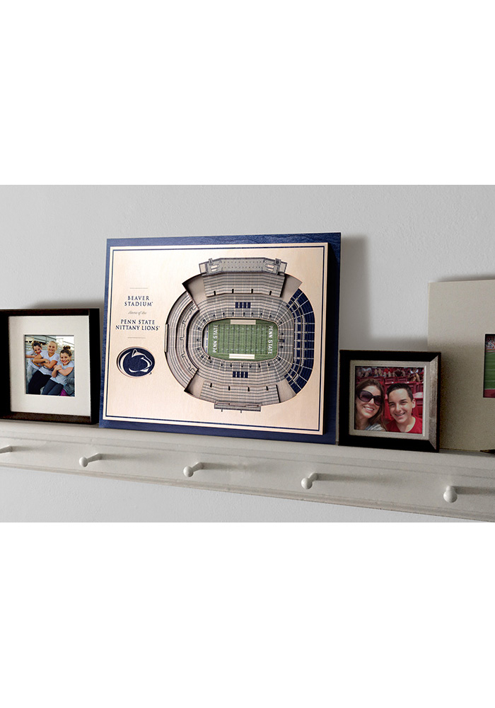 Penn State Nittany Lions 5-Layer 3D Stadium View Wall Art - Image 4