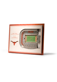 Texas Longhorns 5-Layer 3D Stadium View Wall Art