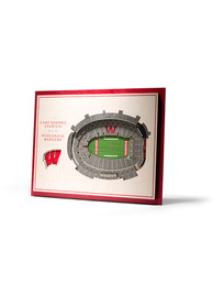 Wisconsin Badgers 5-Layer 3D Stadium View Wall Art