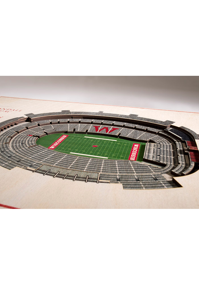 Wisconsin Badgers 5-Layer 3D Stadium View Wall Art - Image 2