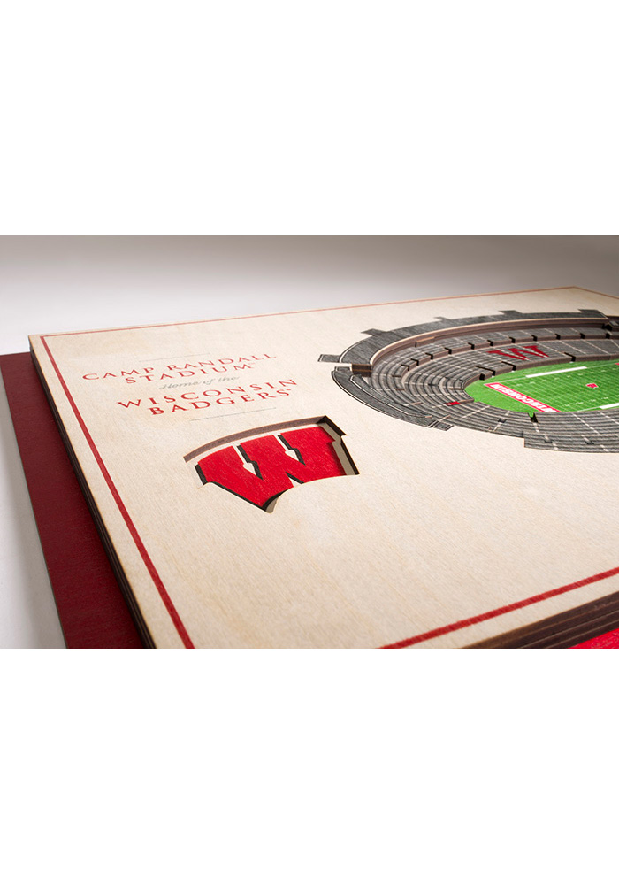 Wisconsin Badgers 5-Layer 3D Stadium View Wall Art - Image 3