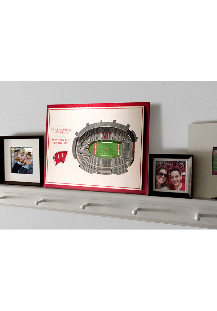 Wisconsin Badgers 5-Layer 3D Stadium View Wall Art - Image 4