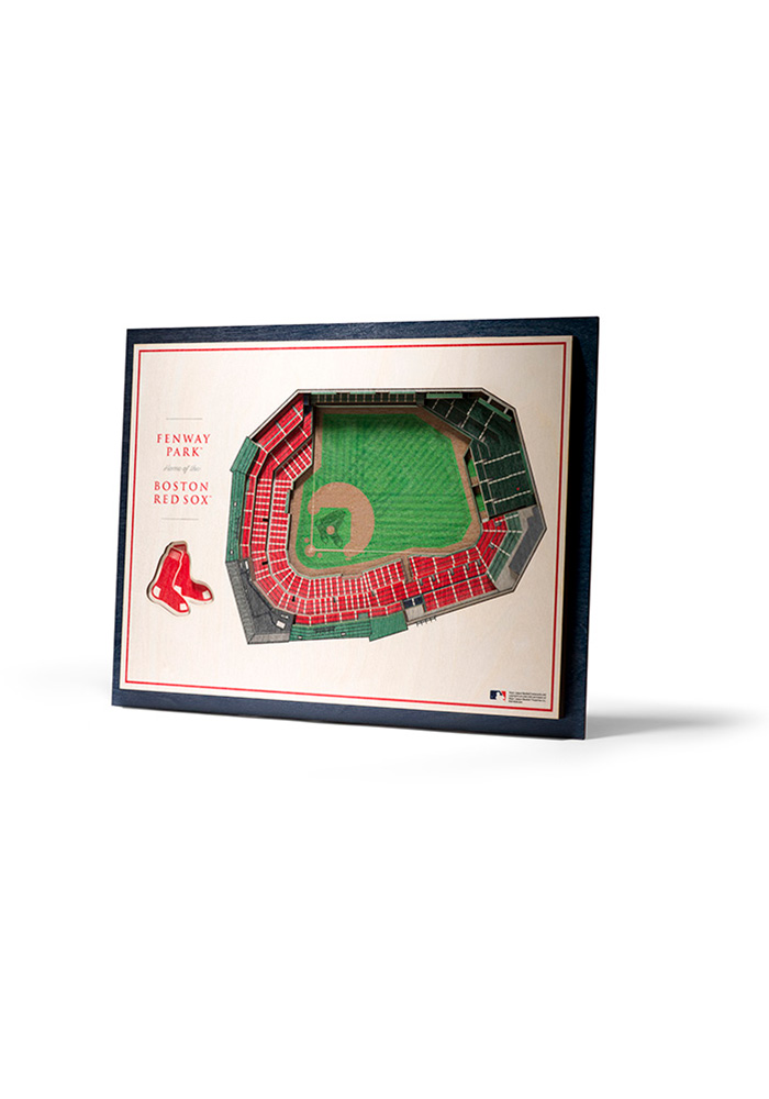 Boston Red Sox 5-Layer 3D Stadium View Wall Art - Image 1