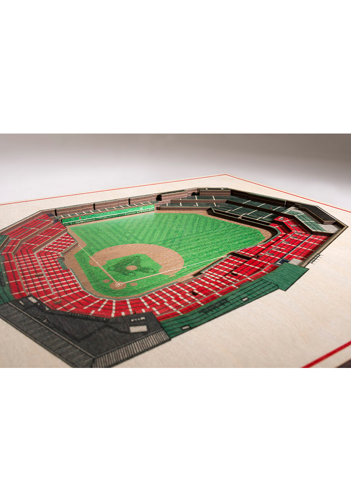 Boston Red Sox 5-Layer 3D Stadium View Wall Art - Image 2