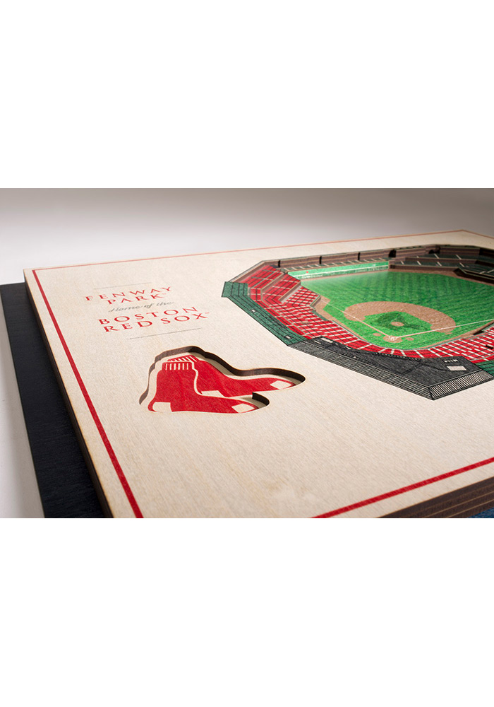 Boston Red Sox 5-Layer 3D Stadium View Wall Art - Image 3