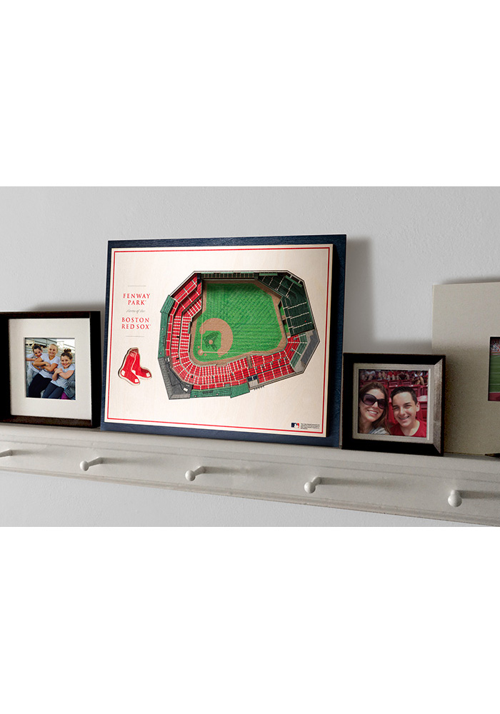 Boston Red Sox 5-Layer 3D Stadium View Wall Art - Image 4