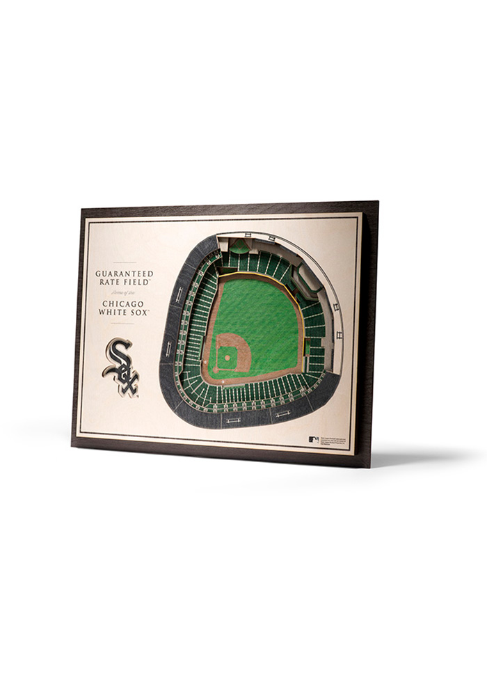 Chicago White Sox 5-Layer 3D Stadium View Wall Art - Image 1