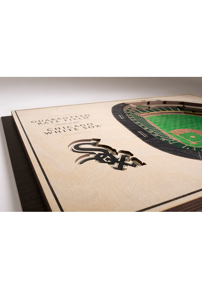 Chicago White Sox 5-Layer 3D Stadium View Wall Art - Image 3