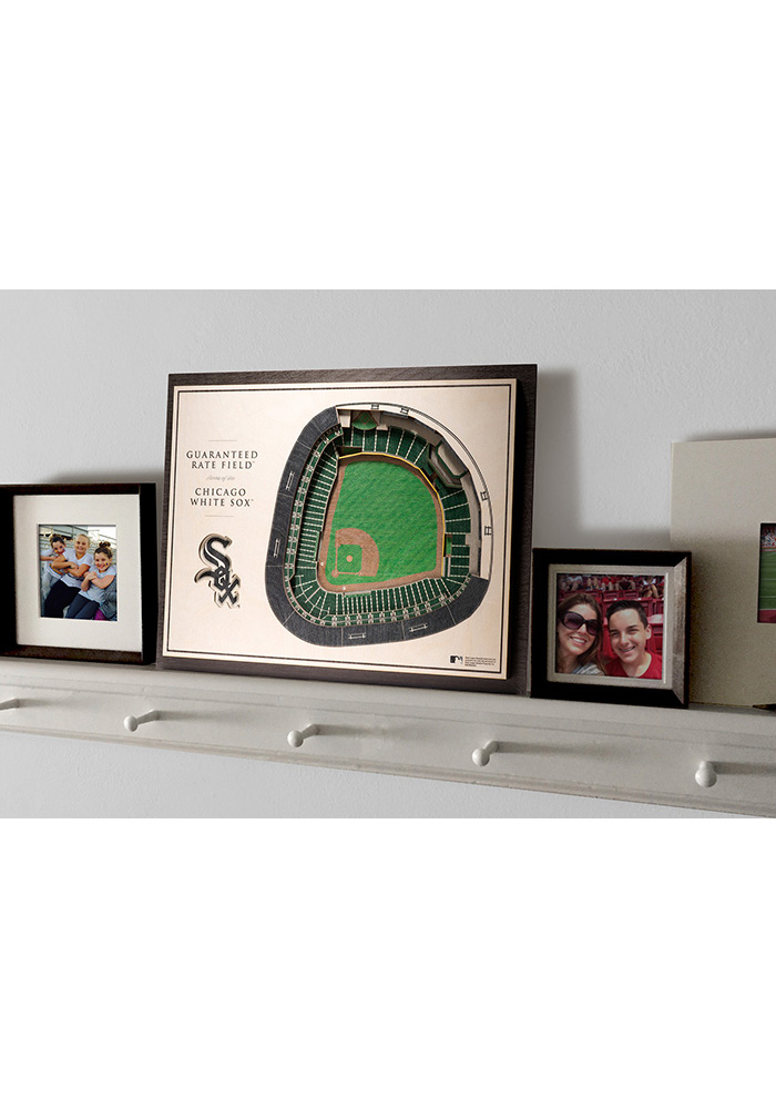 Chicago White Sox 5-Layer 3D Stadium View Wall Art - Image 4