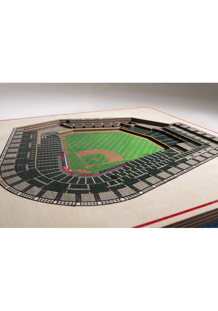 Cleveland Indians 5-Layer 3D Stadium View Wall Art - Image 2