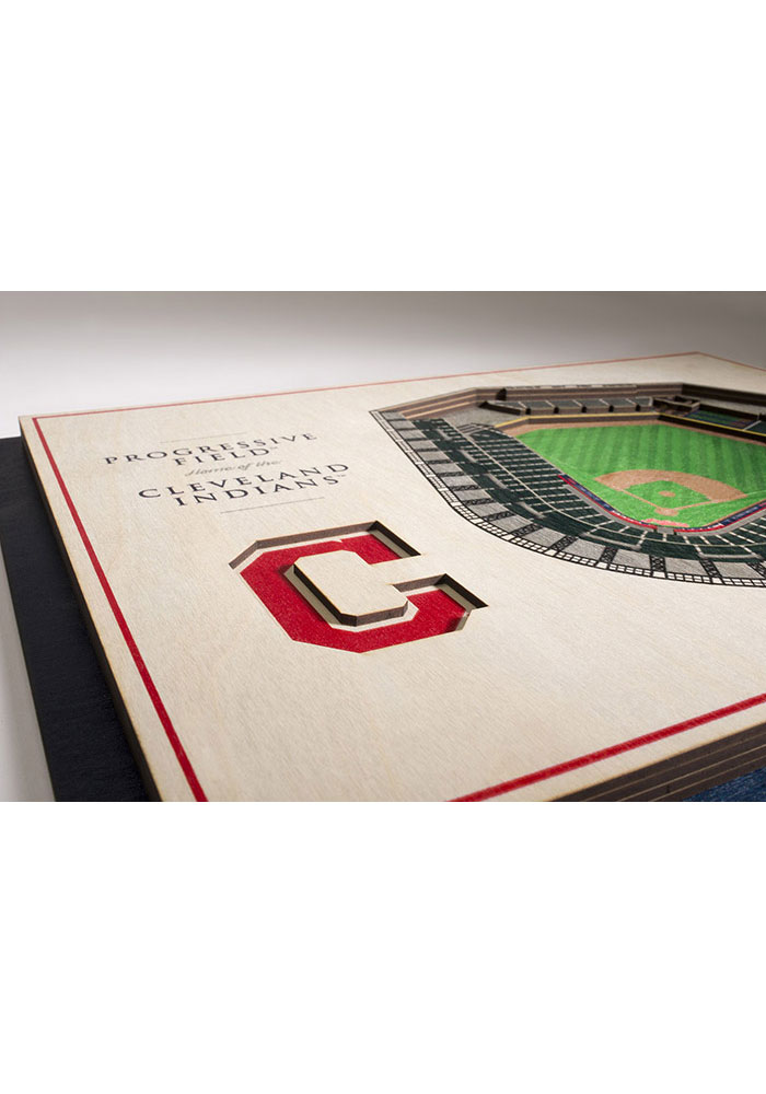 Cleveland Indians 5-Layer 3D Stadium View Wall Art - Image 3