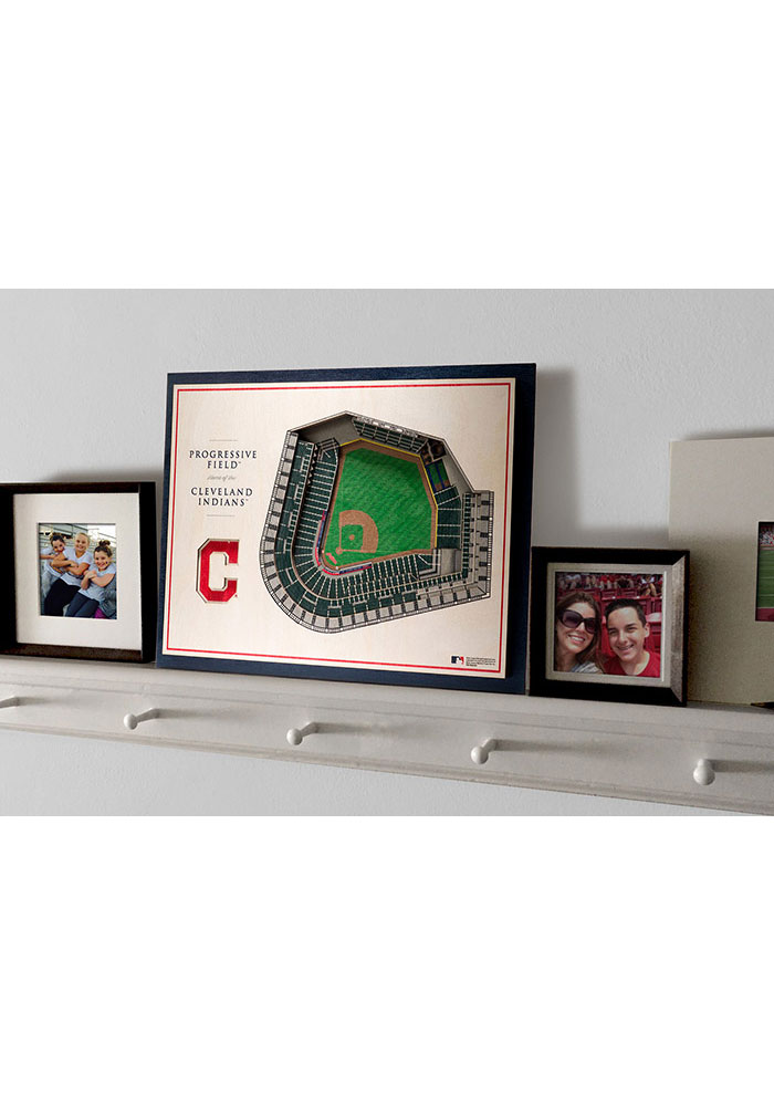 Cleveland Indians 5-Layer 3D Stadium View Wall Art - Image 4
