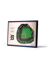 Detroit Tigers 5-Layer 3D Stadium View Wall Art