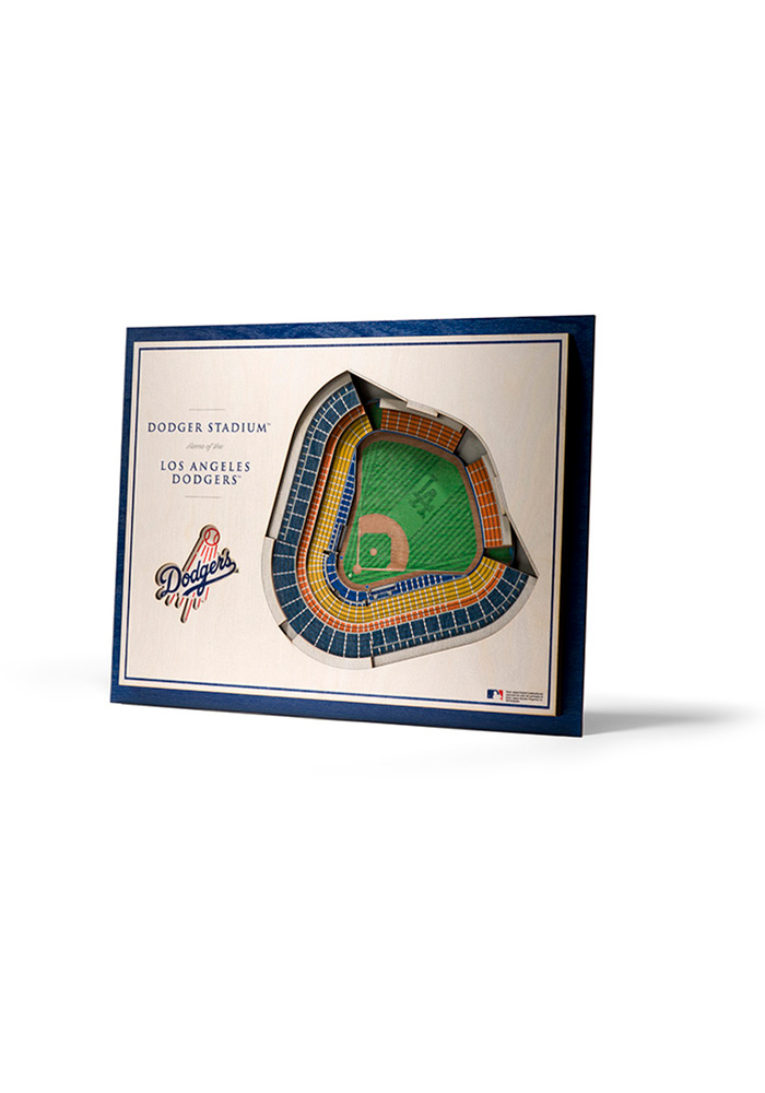 Los Angeles Dodgers 5-Layer 3D Stadium View Wall Art - Image 1