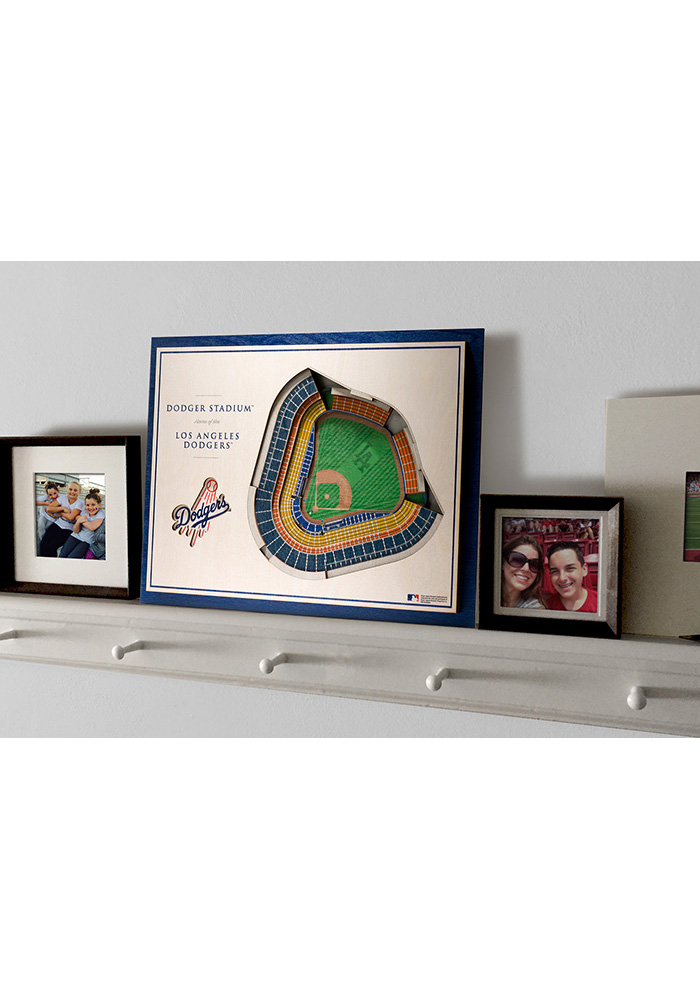 Los Angeles Dodgers 5-Layer 3D Stadium View Wall Art - Image 4
