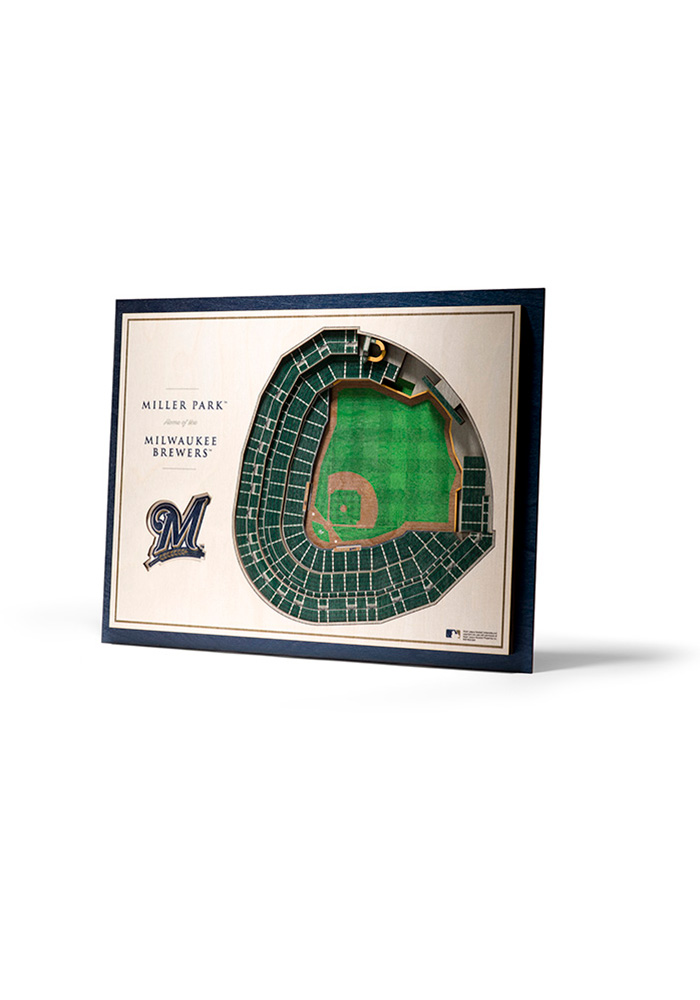 Milwaukee Brewers 5-Layer 3D Stadium View Wall Art - Image 1
