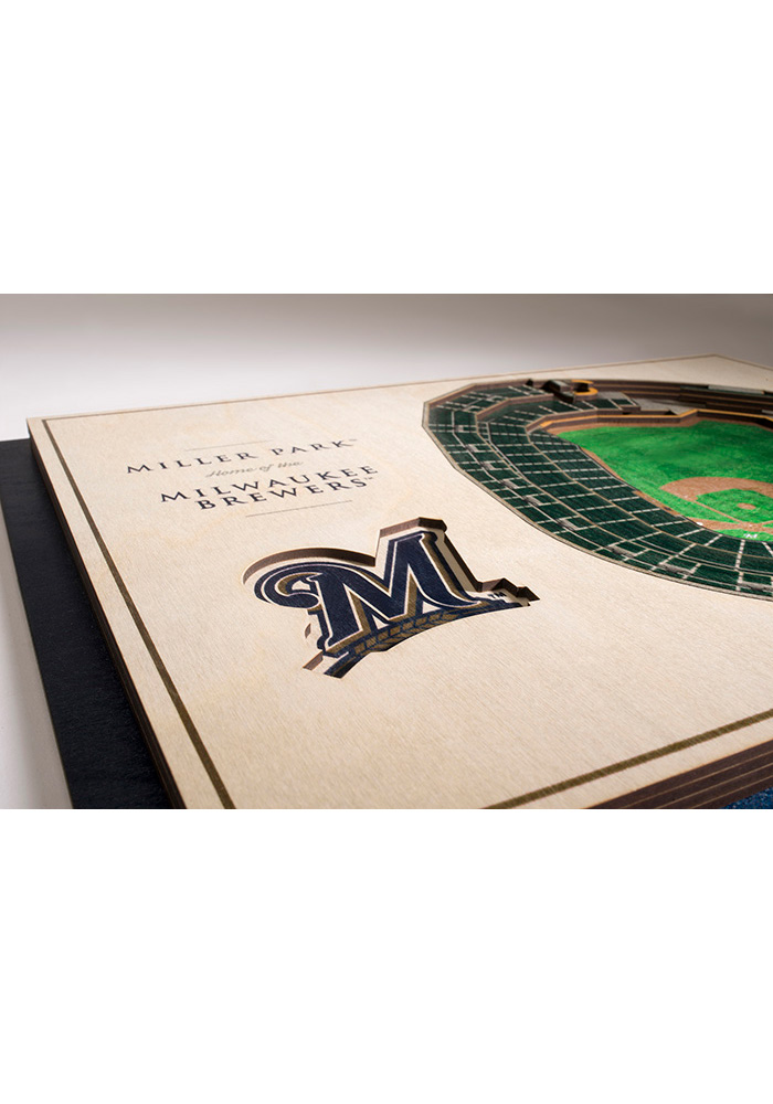 Milwaukee Brewers 5-Layer 3D Stadium View Wall Art - Image 3