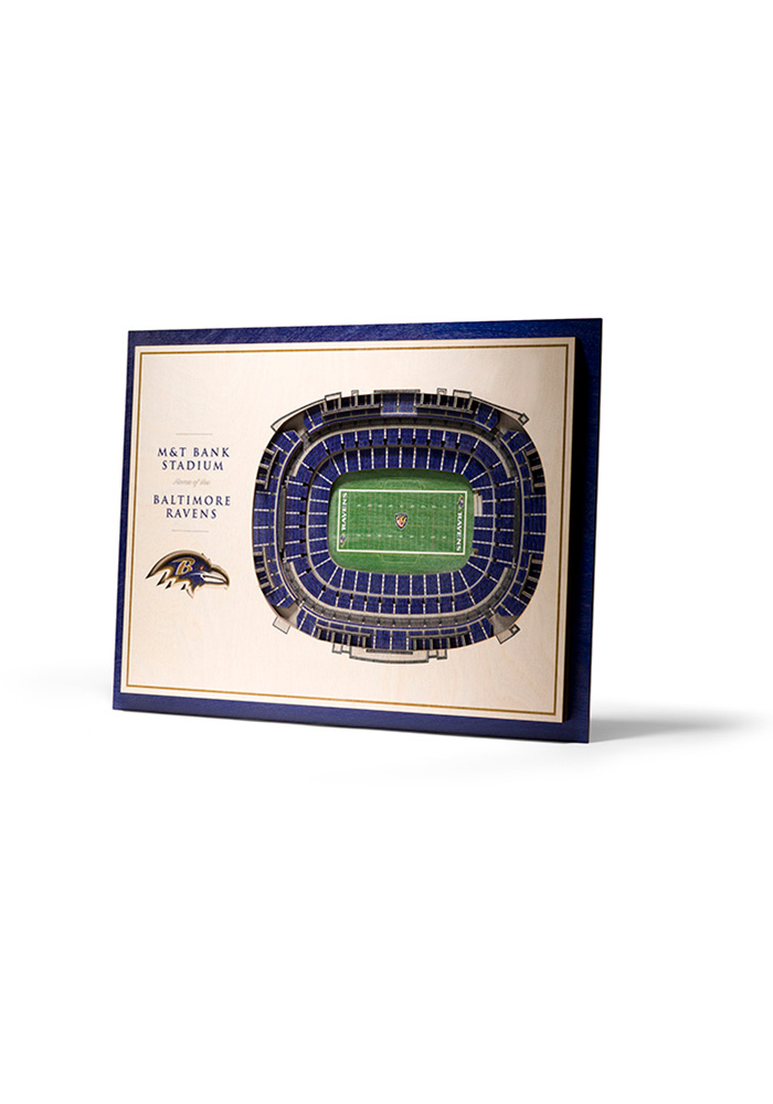 Baltimore Ravens 5-Layer 3D Stadium View Wall Art - Image 1