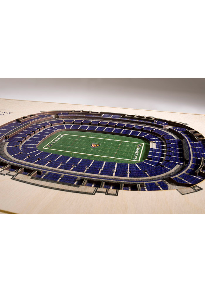 Baltimore Ravens 5-Layer 3D Stadium View Wall Art - Image 2