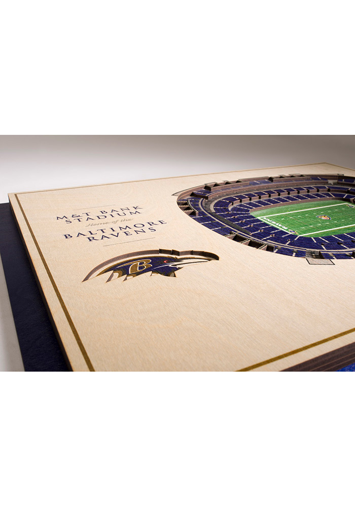 Baltimore Ravens 5-Layer 3D Stadium View Wall Art - Image 3