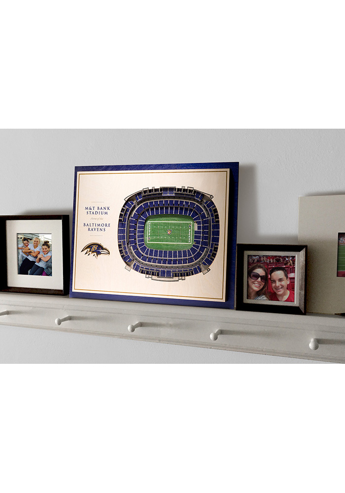 Baltimore Ravens 5-Layer 3D Stadium View Wall Art - Image 4