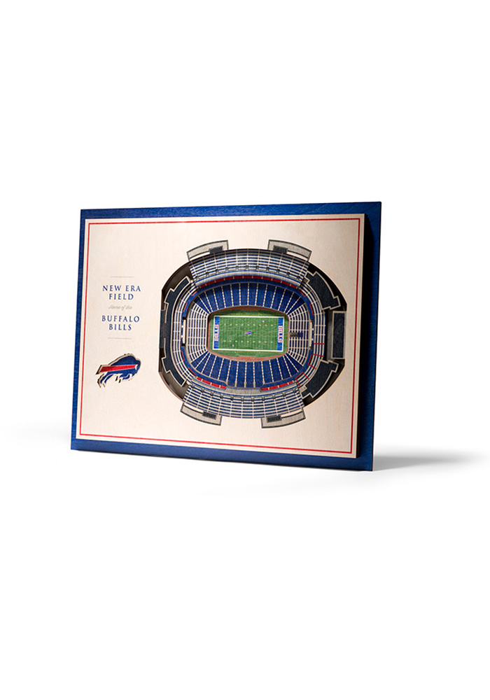 Buffalo Bills 5-Layer 3D Stadium View Wall Art