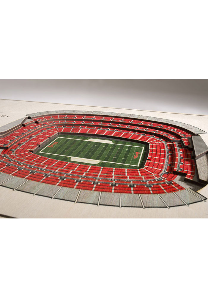 Cleveland Browns 5-Layer 3D Stadium View Wall Art - Image 2