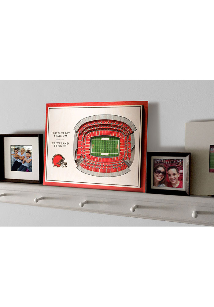 Cleveland Browns 5-Layer 3D Stadium View Wall Art - Image 4