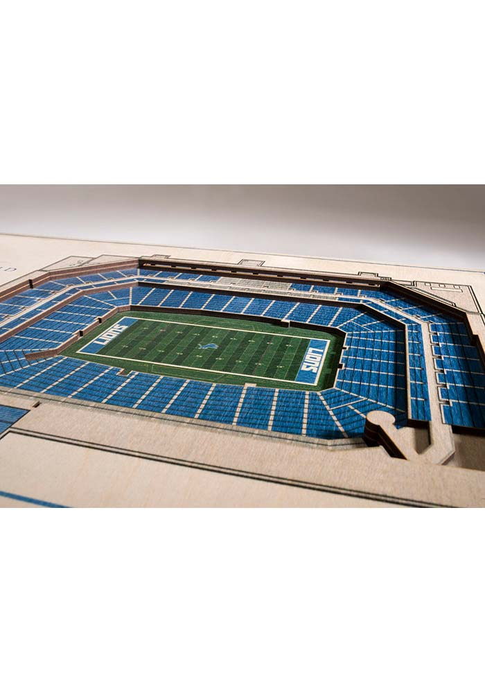 Detroit Lions 5-Layer 3D Stadium View Wall Art - Image 2