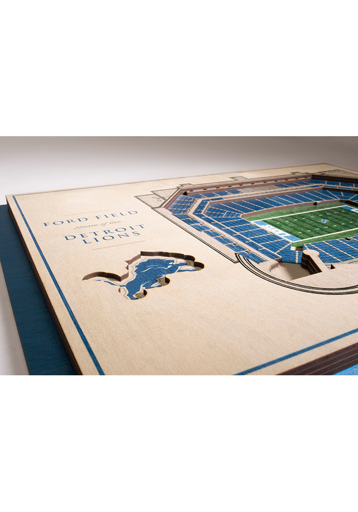 Detroit Lions 5-Layer 3D Stadium View Wall Art - Image 3