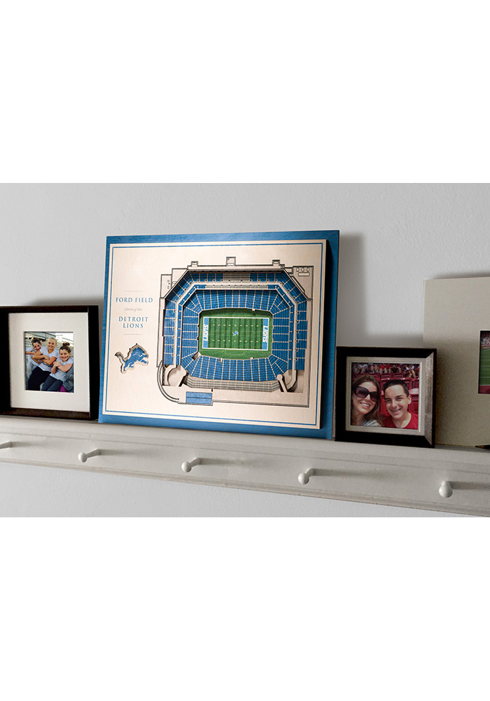 Detroit Lions 5-Layer 3D Stadium View Wall Art - Image 4