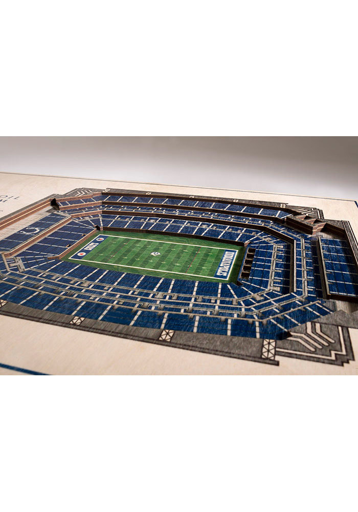Indianapolis Colts 5-Layer 3D Stadium View Wall Art - Image 2