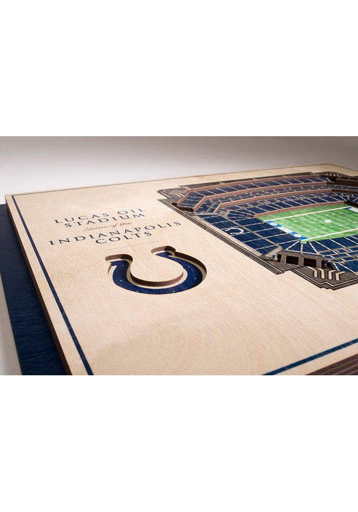 Indianapolis Colts 5-Layer 3D Stadium View Wall Art - Image 3