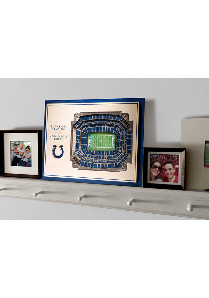 Indianapolis Colts 5-Layer 3D Stadium View Wall Art - Image 4