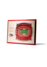 Kansas City Chiefs 5-Layer 3D Stadium View Wall Art