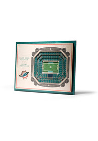 Miami Dolphins 5-Layer 3D Stadium View Wall Art