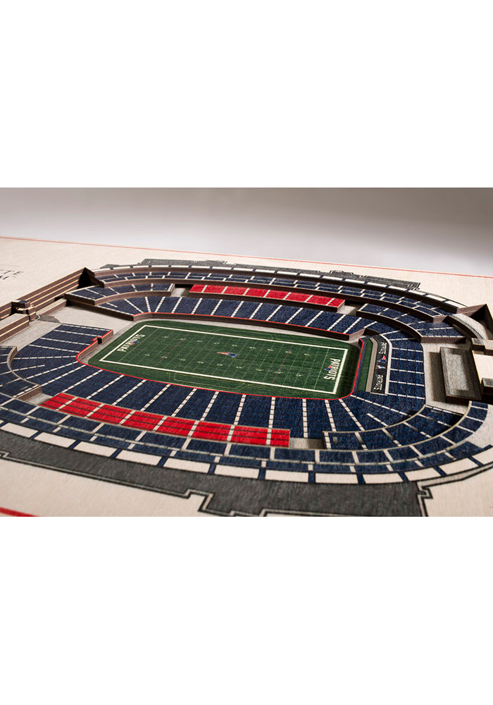 New England Patriots 5-Layer 3D Stadium View Wall Art - Image 2