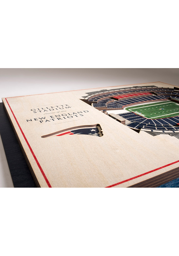 New England Patriots 5-Layer 3D Stadium View Wall Art - Image 3