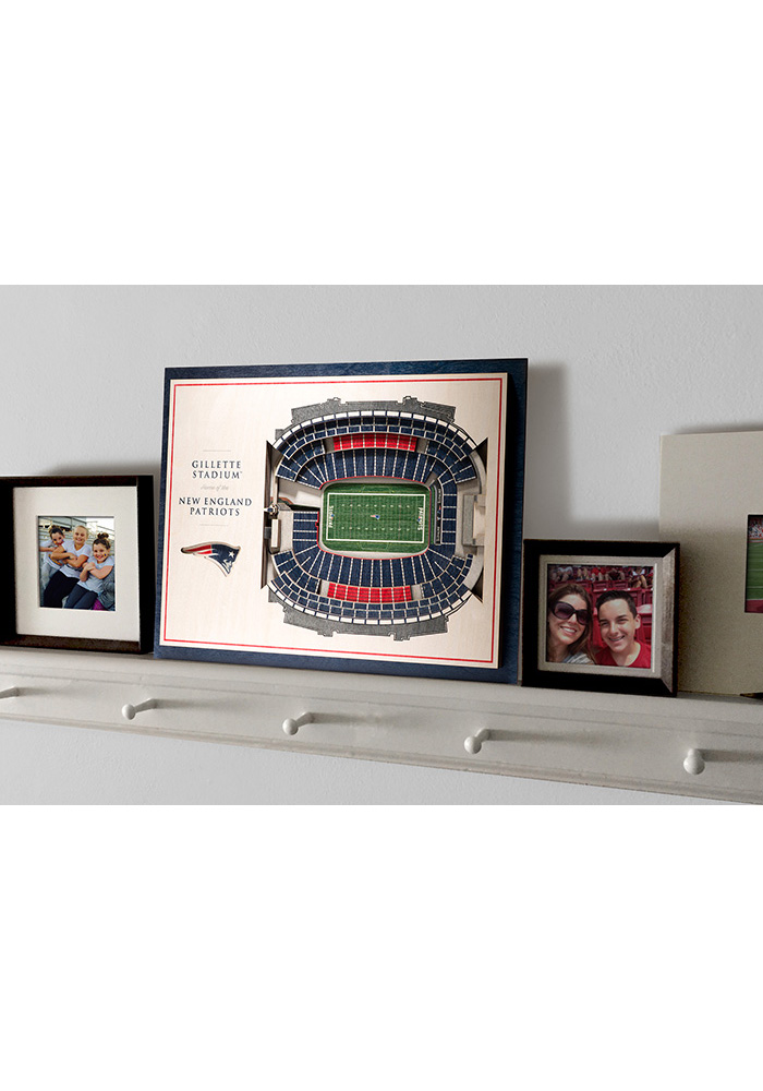 New England Patriots 5-Layer 3D Stadium View Wall Art - Image 4