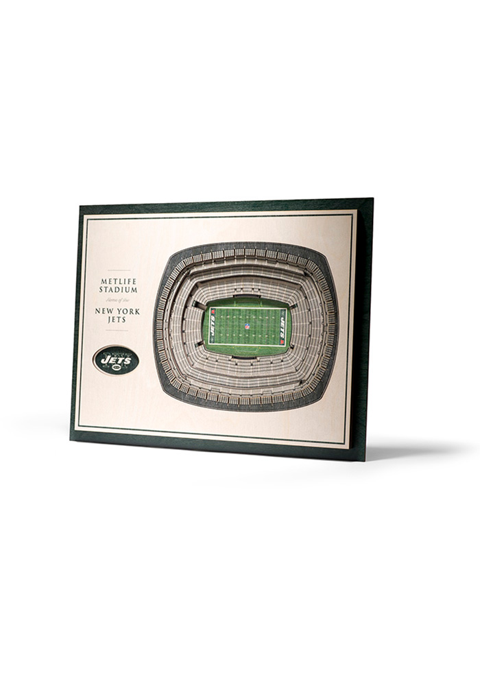 New York Jets 5-Layer 3D Stadium View Wall Art - Image 1