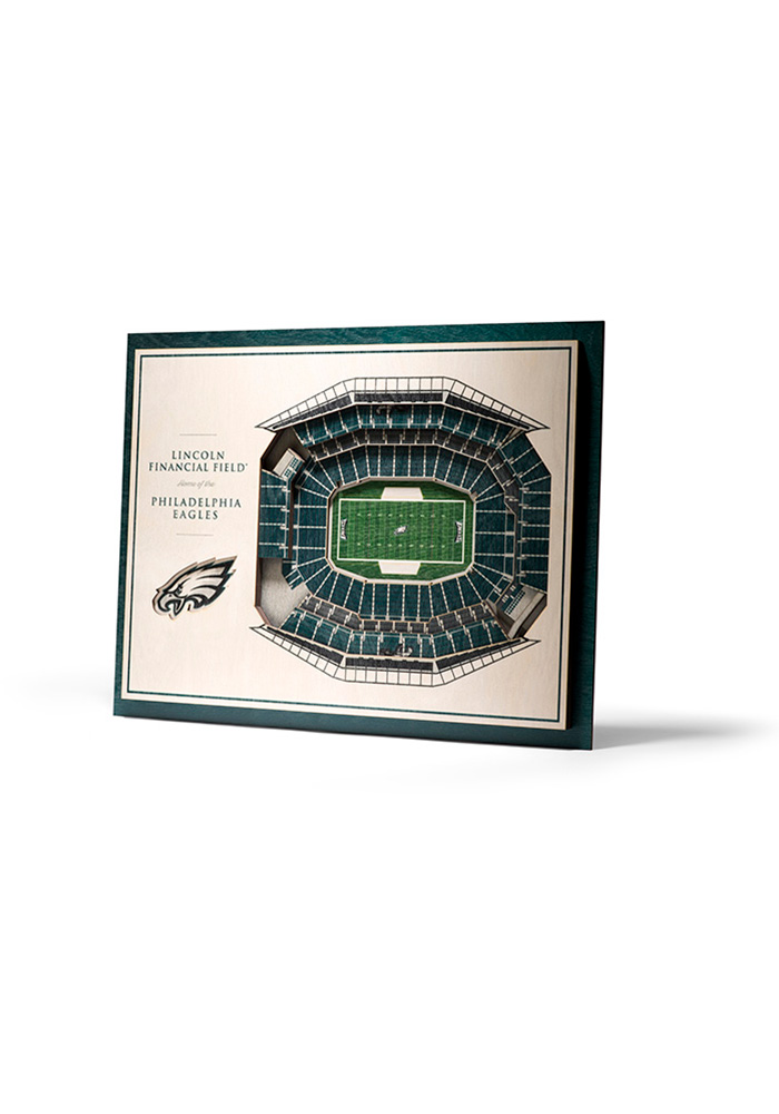 Philadelphia Eagles 5-Layer 3D Stadium View Wall Art - Image 1